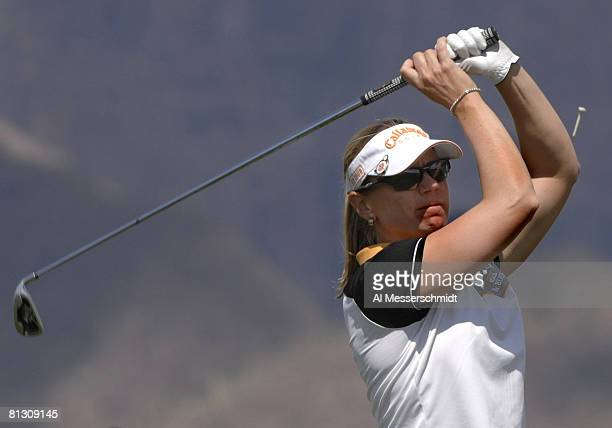 Annika Sorenstam drives from the eighth tee during the third round of the 2007 Safeway International at Superstition Mountain Golf and Country Club...