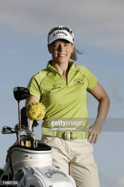 Annika Sorenstam during a shoot for Callaway Golf at Bay Hill Golf Club in Orlando Florida on Monday November 27 2006