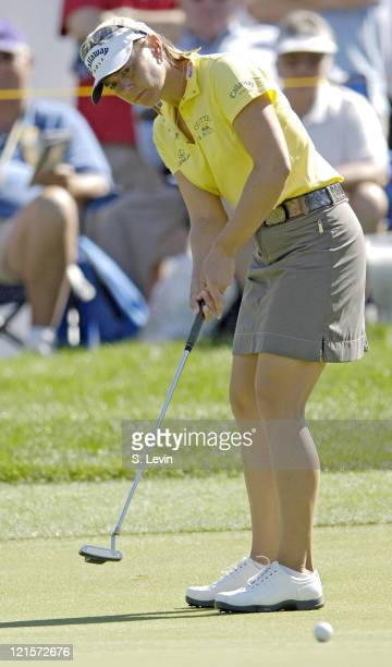 Annika Sorenstam during first round action at the Kraft Nabisco Championships at The Mission Hills Country Club in Rancho Mirage California on...