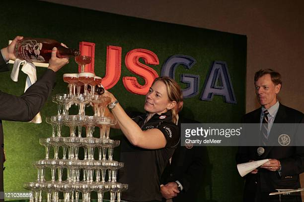Annika Sorenstam during Lexus USGA Sponsorship Announcement January 25 2007 at Peabody Hotel in Orlando Florida United States