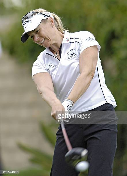Annika Sorenstam during second round action at the Kraft Nabisco Championship at The Mission Hills Country Club in Rancho Mirage California on Friday...