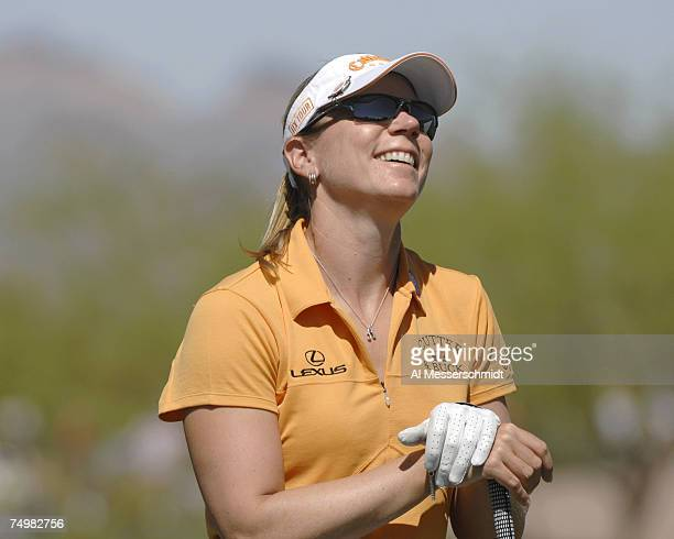 Annika Sorenstam during the final round of the 2007 Safeway International at Superstition Mountain Golf and Country Club in Phoenix Arizona on March...
