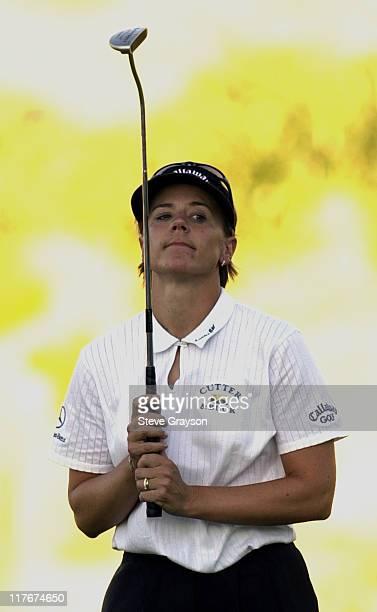 Annika Sorenstam during Tiger Woods and Annika Sorenstam win Battle at Bighorn at Big Horn Country Club in Palm Desert California United States