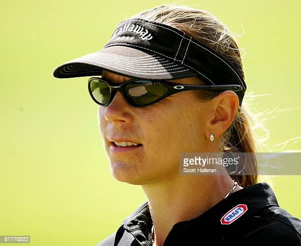 Annika Sorenstam of Sweden waits on the fourth hole during the third round of ADT Championship at the Trump International Golf Club on November 20...