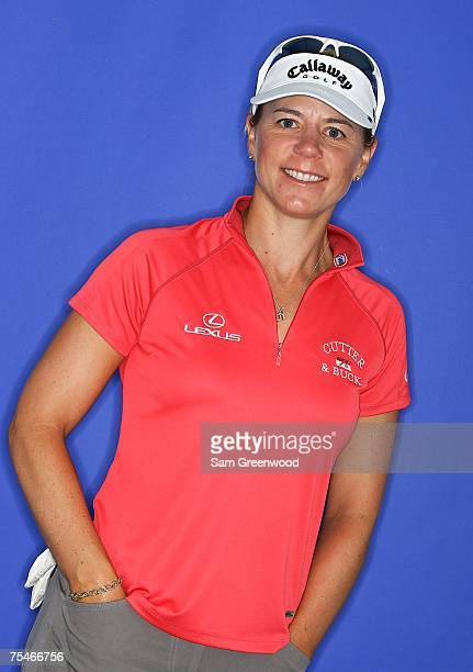 Annika Sorenstam poses prior to the HSBC Women's World Match Play at Wykagyl Country Club on July 18 2007 in New Rochelle New York