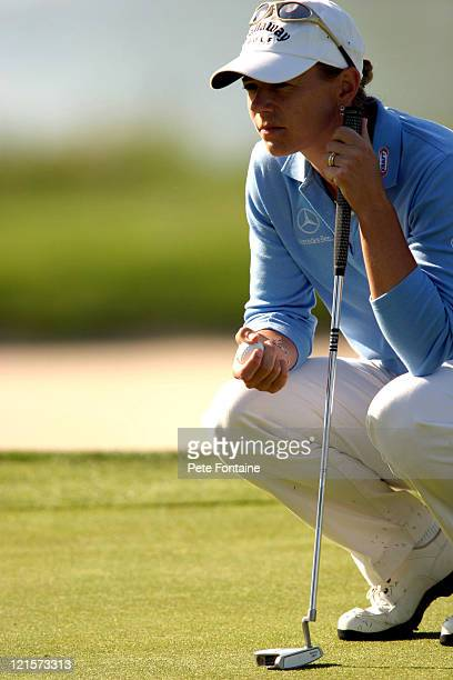 Annika Sorenstam waits to putt on the 11th hole during the first round of the Michelob Ultra Open May 6 2004