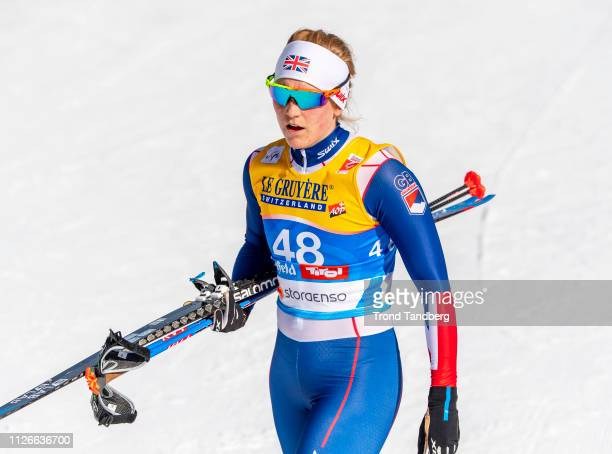 Annika Taylor of GBR during FIS Nordic World Ski Championship Cross Country Ladies 12 km Sprint Free at Seefeld / Tirol on February 21 2019 in...
