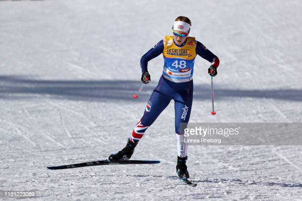 Annika Taylor of Great Britain competes in the Women's Cross Country Sprint Qualification during the FIS Nordic World Ski Championships on February...