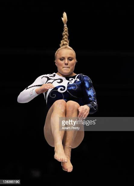 Annika Urvikko of Finland performs on the Beam aparatus in the Women's Qualification during the day one of the Artistic Gymnastics World...