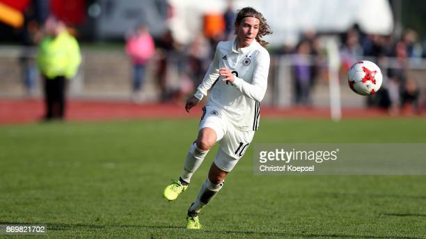 Annika Wohner of Germany runs with the ball during the International Friendly match between Germany U15 Girls and United States U15 Girls at Stadium...
