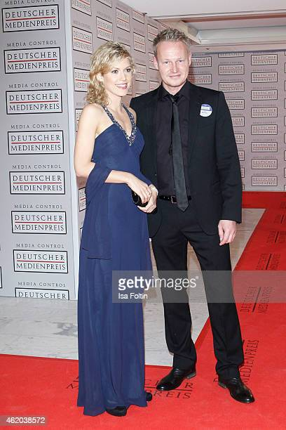 Annika Zimmermann and Boris Buechler attend the German Media Award 2015 on January 23 2015 in BadenBaden Germany