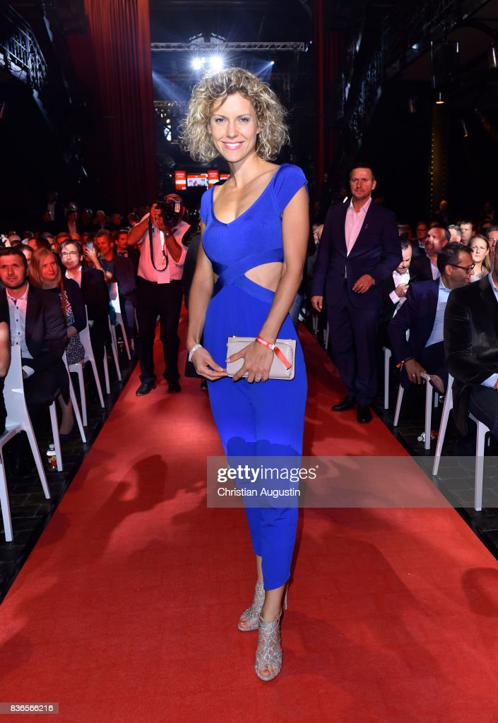 Annika Zimmermann attends the Sport Bild Award at the Fischauktionshalle on August 21, 2017 in Hamburg, Germany.