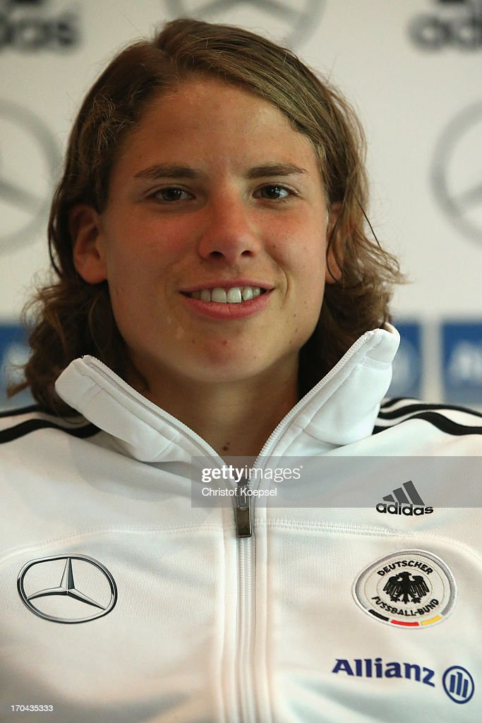 Annike Krahn attends the press conference of Women's Team Germany at Shearton Hotel on June 13, 2013 in Essen, Germany.