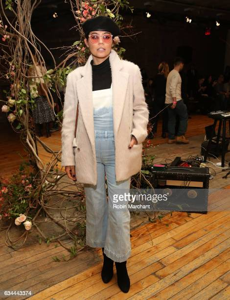 Annina Mislin attends Ulla Johnson Front Row during New York Fashion Week on February 9 2017 in New York City