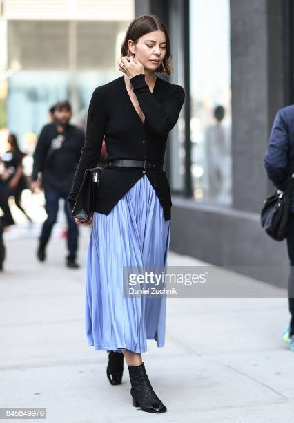 Annina Mislin is seen outside the 31 Phillip Lim show show during New York Fashion Week Women's S/S 2018 on September 11 2017 in New York City