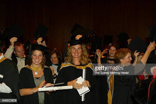 Annita Keating who graduated from The University of NSW with a masters degree in Arts pictured on 5 May 2006 SMH NEWS Picture by STEVEN SIEWERT
