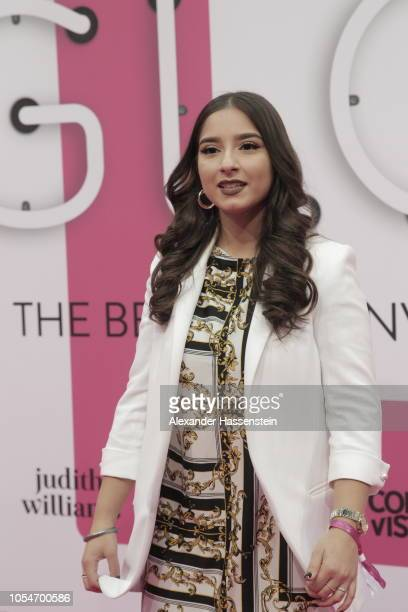 Annita Sunny Kauer arrives at the pink carpet for the GLOW The Beauty Convention at Station on October 27 2018 in Berlin Germany