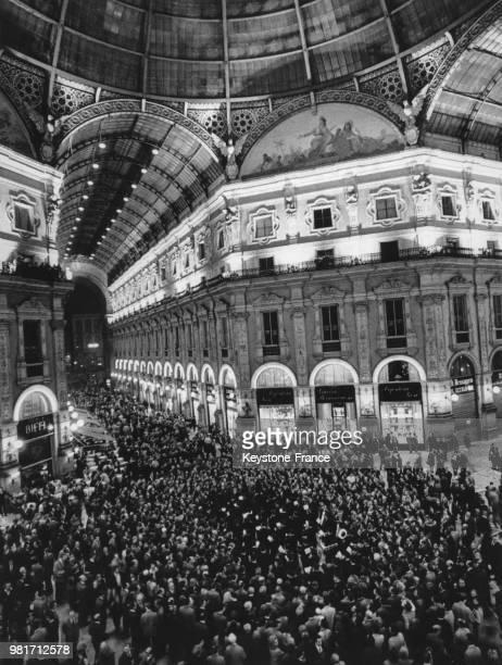 Anniversaire de la construction de la Galleria Vittorio Emanuele II à Milan en Italie