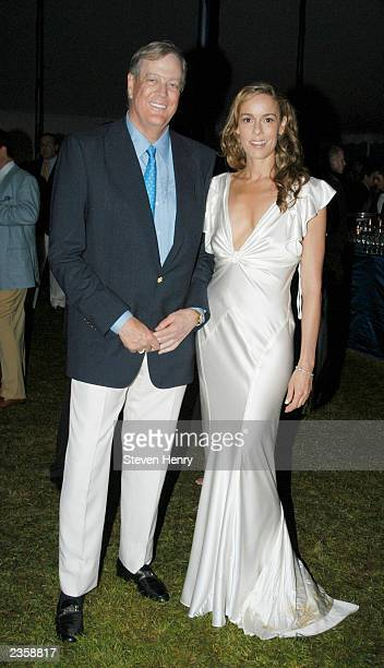 Anniversary Chairmen Julia and David Koch at the Southampton Hospital 45th annual summer benefit The Sapphire Ball August 2 2003 in Southampton New...