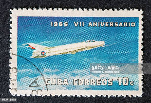 Anniversary of the DAAFAR or Anti Aerial Defense and Aerial Force of the RevolutionCuban postage stamp 1966