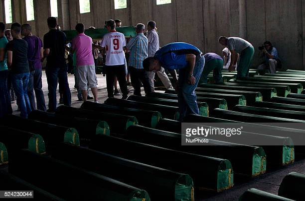 Anniversary of the slaughter of Srebrenica Bosnia where more than 8000 Muslim civilians were killed in 1995 by the Serbian army Funeral prayer is...