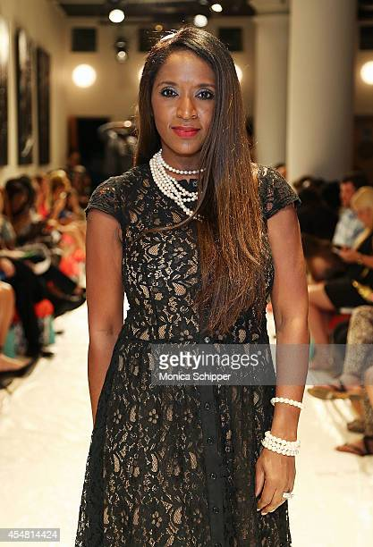 Annjannette Spicer president of Annjannette Models attends the Designers' Preview fashion show during MercedesBenz Fashion Week Spring 2015 at Helen...