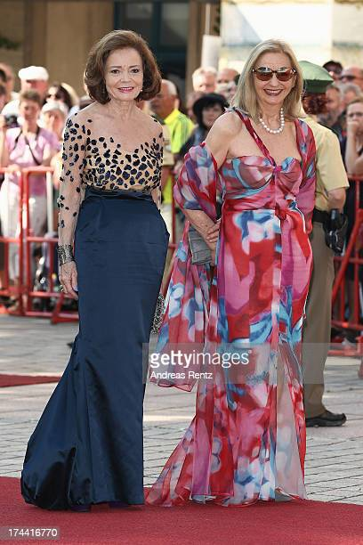AnnKathrin Bauknecht and Anja Heyne attend the Bayreuth Festival opening on July 25 2013 in Bayreuth Germany