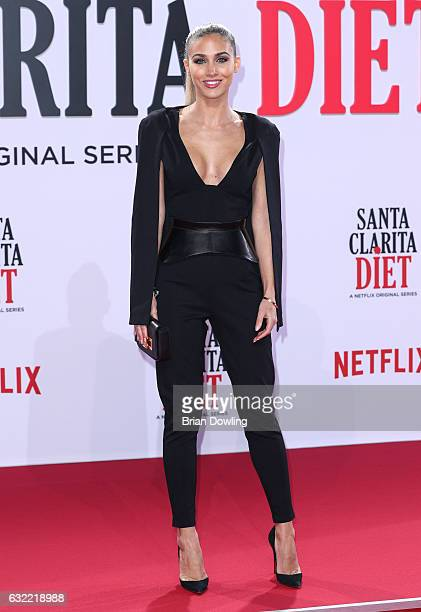 AnnKathrin Broemmel arrives at the premiere of Netflix's Santa Clarita Diet at CineStar on January 20 2017 in Berlin Germany