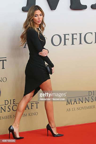 AnnKathrin Broemmel arrives for the movie premiere 'Die Mannschaft' at Sony Center Berlin on November 10 2014 in Berlin Germany