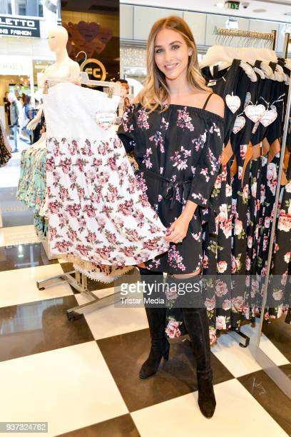 AnnKathrin Broemmel during her AnnKathrin X Colloseum Fashion Presentation on March 24 2018 in Cologne Germany