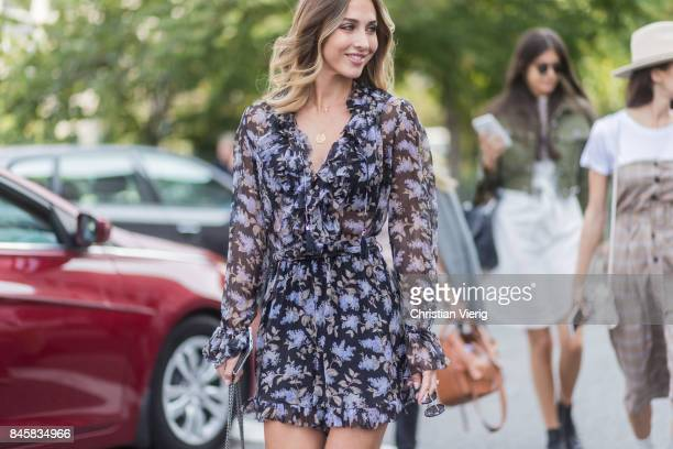 AnnKathrin Broemmel seen in the streets of Manhattan outside Zimmermann during New York Fashion Week on September 11 2017 in New York City