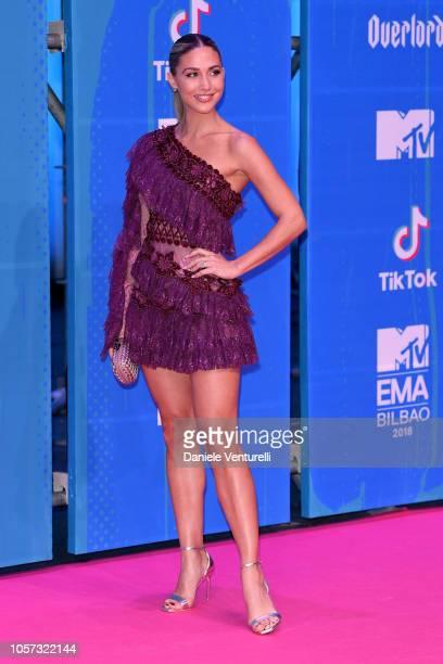 AnnKathrin Goetze attends the MTV EMAs 2018 on November 4 2018 in Bilbao Spain