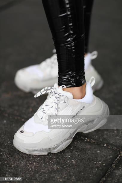 AnnKathrin Goetze wearing Balmain trousers Balenciaga Triple S sneaker on February 02 2019 in Duesseldorf Germany