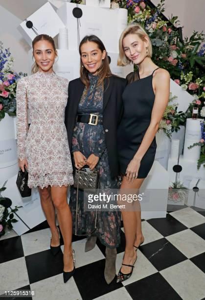 AnnKathrin Gotze Anna Sharypova and Mandy Bork attend the Maison Christian Dior London cocktail party on February 19 2019 in London England