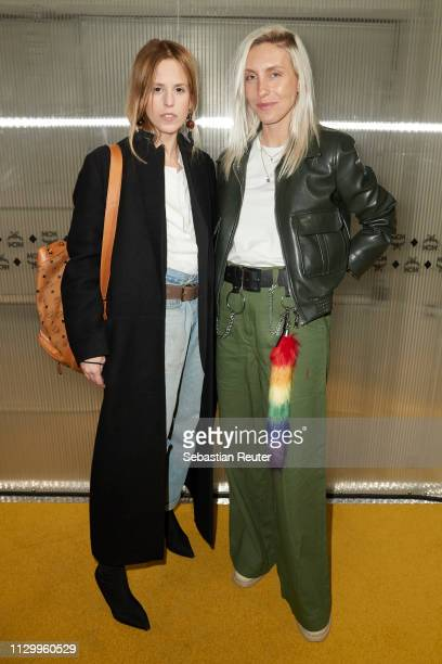 AnnKathrin Grebner and Cloudy Zakrocki attend the MCM Experience Store Opening on February 15 2019 in Berlin Germany