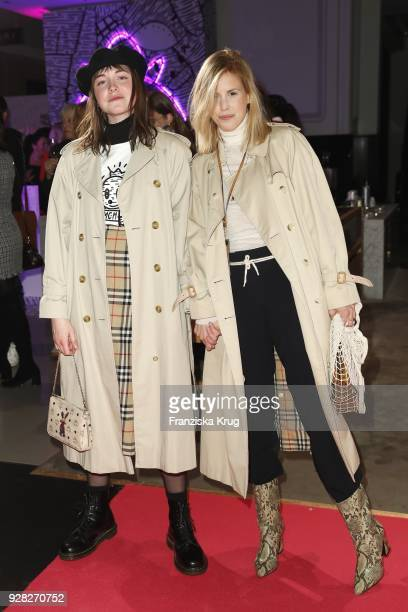 AnnKathrin Grebner and Sissi Pohle during the MCM X Eddie Kang launch event at KaDeWe on March 6 2018 in Berlin Germany