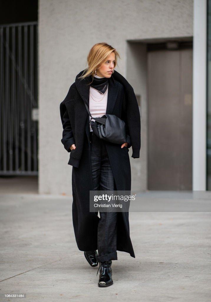 Street Style - Berlin - November 22, 2018 : Fotografía de noticias