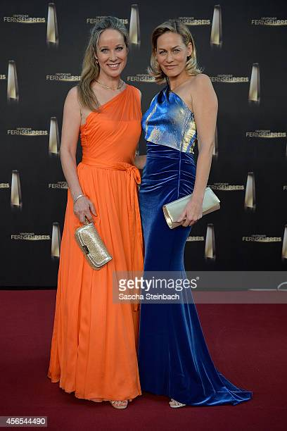 AnnKathrin Kramer and Gesine Cukrowski arrive at the Deutscher Fernsehpreis 2014 at Coloneum on October 2 2014 in Cologne Germany