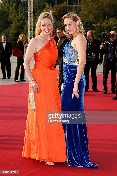 AnnKathrin Kramer and Gesine Cukrowski attend the red carpet of the Deutscher Fernsehpreis 2014 on October 02 2014 in Cologne Germany