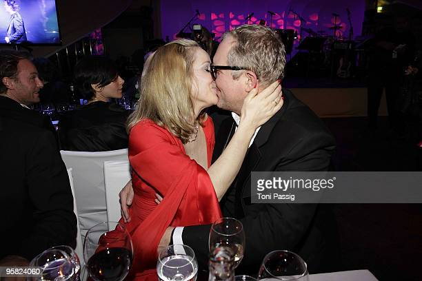 AnnKathrin Kramer and Harald Krassnitzer attend the 37 th German Filmball 2010 at the hotel Bayrischer Hof on January 16 2010 in Munich Germany
