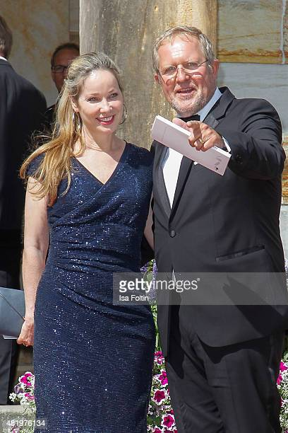 AnnKathrin Kramer and Harald Krassnitzer attend the Bayreuth Festival 2015 Opening on July 25 2015 in Bayreuth Germany