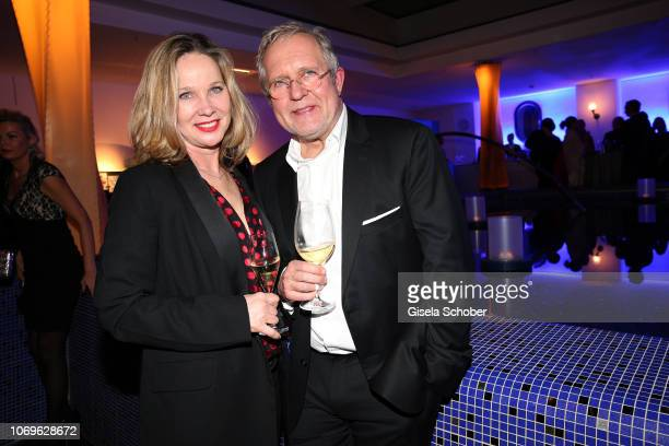 AnnKathrin Kramer and her husband Harald Krassnitzer during the ARD advent dinner hosted by the program director of the tv station Erstes Deutsches...