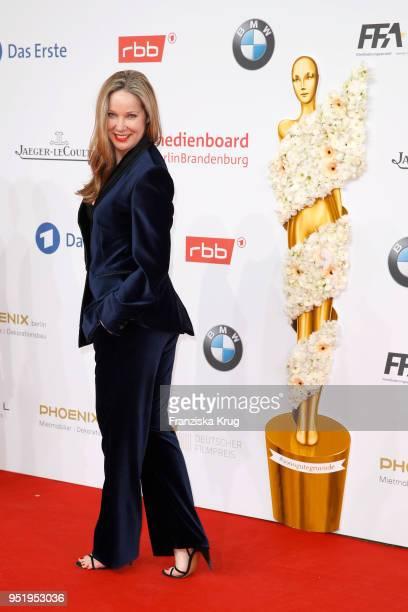 AnnKathrin Kramer attends the Lola German Film Award red carpet at Messe Berlin on April 27 2018 in Berlin Germany
