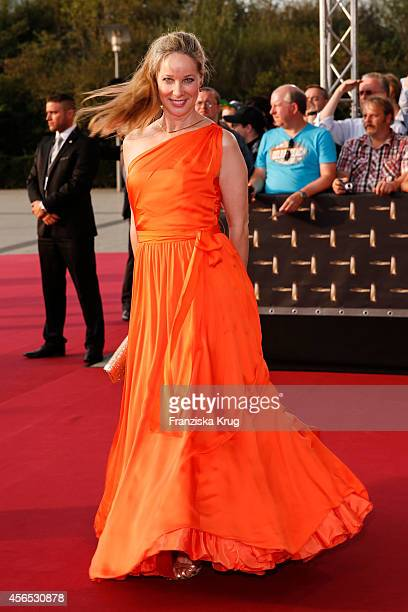 AnnKathrin Kramer attends the red carpet of the Deutscher Fernsehpreis 2014 on October 02 2014 in Cologne Germany