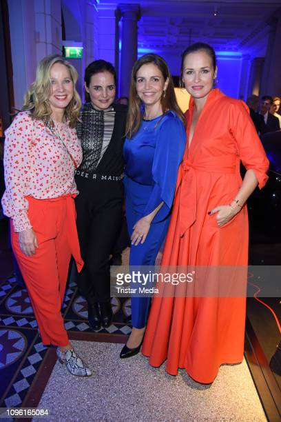 AnnKathrin Kramer Elisabeth Lanz Rebecca Immanuel and Judith Hoersch during the Blue Hour Party hosted by ARD during the 69th Berlinale International...