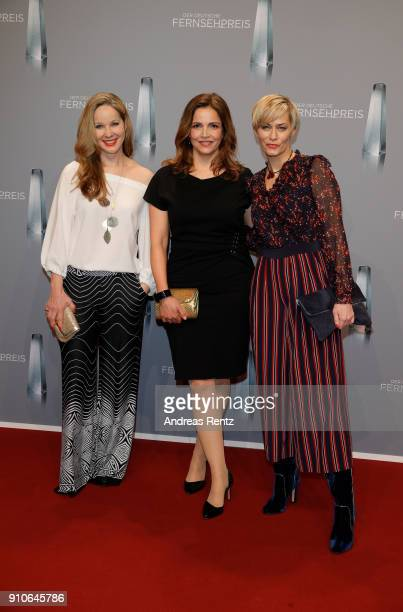 AnnKathrin Kramer Rebecca Immanuel and Gesine Cukrowski attend the German Television Award at Palladium on January 26 2018 in Cologne Germany