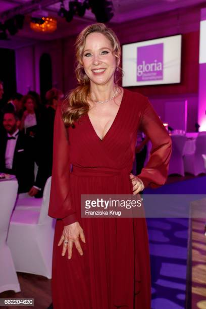 AnnKathrin Kramer wearing a dress by Minx during the Gloria Deutsche Kosmetikpreis at Hilton Hotel on March 31 2017 in Duesseldorf Germany