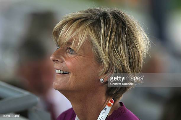 AnnKathrin Linsenhoof is seen during the Teschinkasso prize as part of the Grand Prix CDIO dressage of the CHIO on July 15 2010 in Aachen Germany