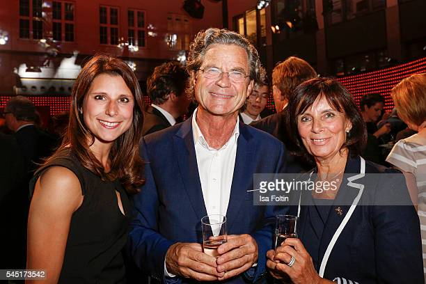 AnnKathrin Mack Florian Langenscheidt and Marianne Mack attend the Deutscher Gruenderpreis on July 5 2016 in Berlin Germany