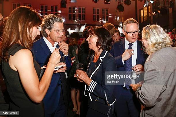 AnnKathrin Mack Florian Langenscheidt Marianne Mack and Georg Fahrenschon attend the Deutscher Gruenderpreis on July 5 2016 in Berlin Germany